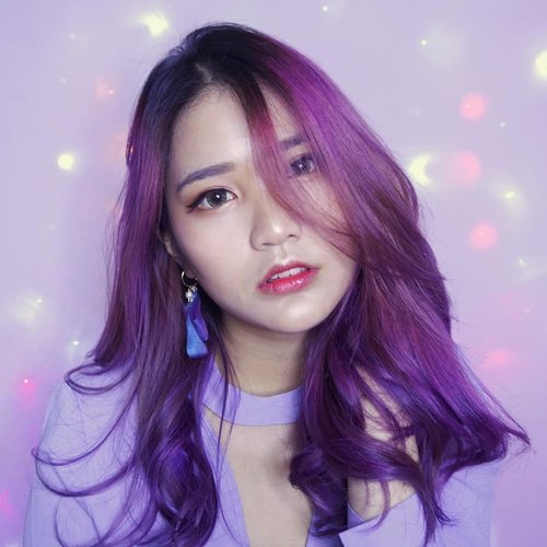What's your favorite color? 💜💜 . . #NatashaJSmakeup . . . . . . . . . . . #clozetteid #ggrep #wakeupandmakeup #onfleek #makeup #purplehair #퍼플 #뷰티블로거 #셀스타그램