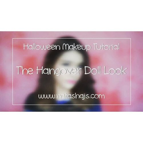 now up on my youtube channel: hangover doll makeup for #halloween! do check it out if you need some not-scary halloween makeup inspiration 🎃 click the link on my bio or go to bit.ly/hangoverdoll to watch the full video! . . #NatashaJS #NatashaJStutorial #NatashaJSvideo #NatashaJSonYouTube #VioletBrush #clozetteid #beautyblogger #makeup #tutorial #뷰티블로거