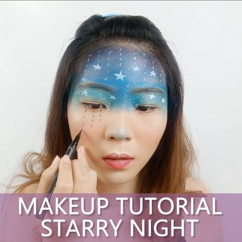 S. T. A. R. R. Y  N. I. G. H. T 🌌 #luellatutorial .Makeup details@makeuprevolution Eyeshadow@mehronmakeup Facepaint@pixycosmetics Eyeliner@inivindy @avionebeauty Magic Palette@lashesbyjanuary_ Upper Lash.🎶 Winter  This Christmas - Taeyeon cover by Hyeeun.💻 Corel Video Studio..#luellaartistry #cchannelfellas #christmasmakeup #christmasinspo #christmasmakeuplook #wintermakeup #clozetteid