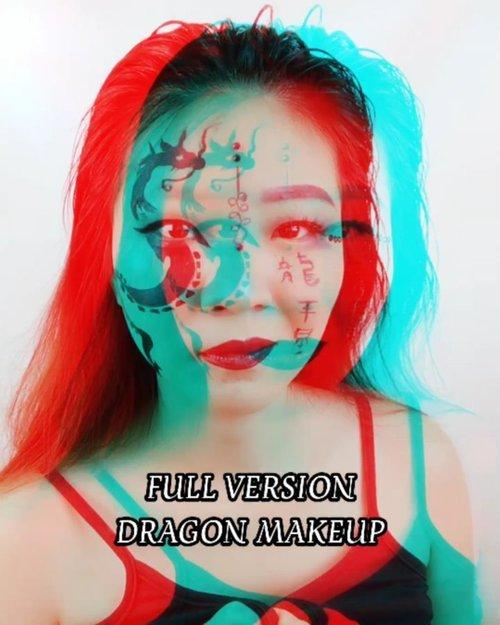 Full Version Dragon Makeup nih 🖤 Btw jerawat di idung itu lagi sakit banget.. Keliatan gak bengkak nya? 😂😂 #luellajustforfun #luellamakeup ...#luellaartistry #cchannelfellas #ClozetteID #dragonmakeup #tiktokindonesia #memes