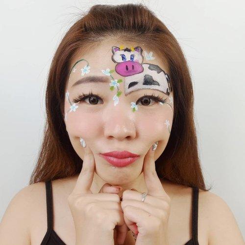 Hiyaaaa hari ini Idul Adha yaa.. Selamat Hari Raya Idul Adha buat yang merayakan! . Hari ini menu makan kalian sapi atau kambing nih? 😛 . Product details @mehronmakeup Facepaint @imagiccosmetics Facepaint @youmakeups_id Lipstick @cathydollindonesia Black Liner @loreca.lashes . . . #luellaartistry #luellamakeup #cowmakeup #cowfacepaint #flowerfacepaint #iduladhamakeup #cartoonmakeup #facepaintingideas #artsymakeup #makeuppemula #makeupremaja #makeuptransformation #tutorialmakeup #beautyvlogger #beautybloggerindonesia #beautybloggerbandung #beautyvloggerbandung #bandungbeautyblogger #bandungbeautyvlogger #clozzetebeauty  #Clozetteid