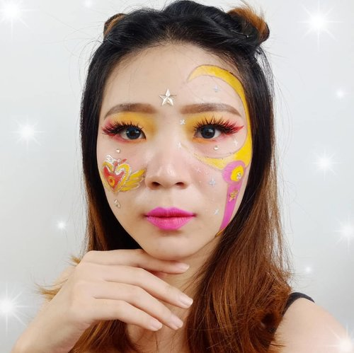 Penasaran deh,  disini ada yg udah pernah nonton ending nya Kartun SailorMoon gak? Yg tau ending nya coba kasih tau dong.  Aku ga pernah tau ending nya gimana 😂😂😂 #luellamakeup . . Inspired @r.xhena . . . #luellaartistry #sailormoon #sailormooncosplay #ClozetteID #cchannelfellas