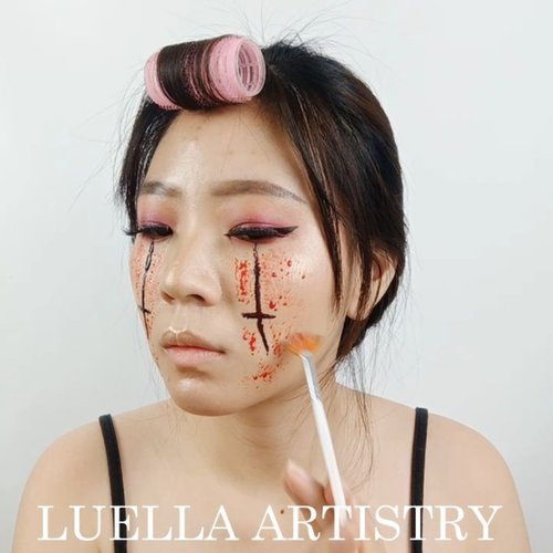 Tutorial Day 21 for #31daysofhalloween.Product details@tasyafarasya The Needs Palette@mehronmakeup Fake blood@nyxcosmetics_indonesia Lipstick..🎶 Ko Ko Bop - EXO Cover by Impaofsweden💻 Corel Video Studio......#luellaartistry #luellatutorial #clozzetebeauty #clozetteid  #halloween2019 #halloweenideas2019
