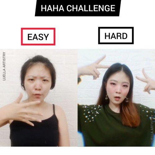 HAHA challenge versi aku nih.. Semoga gak bosen nonton nya yaaaaak 😛 #luellajustforfun#hahachallenge .Btw kalian Tim Easy atau Tim Hard nih? .🎶 yang tau original sound nya darimana boleh tag di comment yah....#luellaartistry #tiktokindonesia #cchannelfellas #ClozetteID