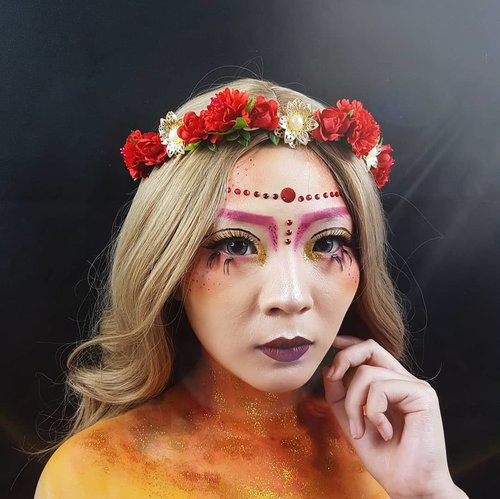 Hello human! Let me introduce myself.. I'm HEPHAESTUS Goddess of Fire and Volcano Guardian..Don't be afraid when you see me. I'm kind and peace loving God. BUT don't make me angry because once you do it, I WILL BURN YOU!!.This is my submission for @marvellacontest......#MarvellaContest2018 #MarvellaContest#luellamakeup #goddessmakeup #artsymakeup #cchannelid #indobeautygram #goddessoffire #cchannelbeautyid #beautiesquad #clozetteid #clozzetebeauty #bloggerindonesia #bloggerindo #beautilosophy  #indobeautysquad #beautygoersid  #beautybloggerindonesia #bvloggerid #ragamkecantikan  #beautybloggerbandung #setterspace #kbbvmember #bloggermafia #bunnyneedsmakeup #kbbvfeatured
