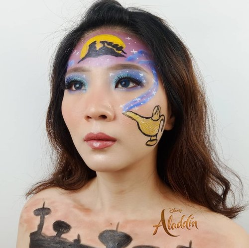 You are only a fool if you give up -Aladdin- . Inspired @makeupalii @laviedunprince @astaririri . Tutorial ama product details menyusul yaa! . . . . . . . . . . . #luellaartistry #luellamakeup #artsymakeup #luellaartistry #jasminemakeup #facepaintingideas #princessjasminemakeup #disneymakeup #aladdinmakeup #jasminemakeupinspired #jasminefacepaint #colorfulmakeup #koreamakeup #clozzetebeauty #Clozetteid #beautyvlogger #beautybloggerindonesia #beautybloggerbandung #beautyvloggerbandung #bandungbeautyblogger #bandungbeautyvlogger