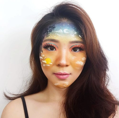 Upload this look for last time! I promise!! Forgot to tell you about product details for this look.. So, here is it!.@bandungwith_y.o.u @youmakeups_id Foundation@riveracosmetics Luminous Micro Powder@maybelline @getthelookid Fit Me Matte & Poreless Powder@makeoverid Riche Glow Highlighter@blpbeauty Brow Definer@pac_mt Green Gel Liner@lakme Eyeconic Blue@chicaychico_official One Kill Eyeliner@wardahbeauty Lip Cream.Eyeshadow details:❤ @nyxcosmetics_indonesia In your Element Palette Fire❤ @nyxcosmetics_indonesia Love You So Mochi Pastels Electric❤ @makeuprevolution Ultimate Colour Chaos Palette❤ @bclsinclair x @altheakorea Sunrise & Moonrise Eye Palette❤ Popfeel Eyeshadow Palette..#facepaintingideas #bandungbeautyvlogger#luellamakeup #tampilcantik #indobeautygram #bvloggerid #cchannelbeautyid #beautiesquad #clozetteid #clozzetebeauty #bloggerindonesia #bloggerindo #beautilosophy  #indobeautysquad #beautybloggerindonesia #ragamkecantikan  #beautybloggerbandung #setterspace #bloggerbandung #muatribeid #kbbvmember #bloggermafia #bunnyneedsmakeup #kbbvfeatured #bandungbeautyvlogger