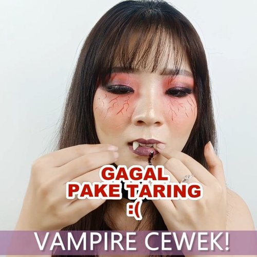 Tutorial Day 11 for #31daysofhalloween.Inspired Vampire.Product details@tasyafarasya The Needs Palette@nyxcosmetics_indonesia Eyeshadow Fire Element@artistry_indonesia Eyeshadow@cathydollindonesia Eyeliner@nyxcosmetics_indonesia Lipstick...🎶 A Thousand Years - Cover by Billy ft Pla Suchaya💻 Corel Video Studio......#luellaartistry #luellatutorial #vampiremakeup #clozzetebeauty #clozetteid  #halloween2019 #halloweenideas2019