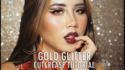 [NEW VIDEO ALERT] CNY Look - Gold Glitter Cut Crease Tutorial  Click the link in my bio for full version!!My boyfriend @timotiusch has a surprise for you guys😆😆😆 WE'RE DOING BOYFRIEND DOES MY VOICE OVER CHALLENGE😂😂😂😂😂😂😂 . . Check my previous post if you wanna see my product details . Music : China Stone-song For Luisro66 -No Copyright Song-By Music For You - from YouTube  @beautynesiamember @indobeautygram @indovidgram #IVGbeauty #indovidgram #indobeautygram #cny #imlek #makeupimlek #nyxcosmetics #nyxcosmeticsindonesia #beautyjunkie #beautyjunkies #selfmakeup #beautyenthusiast #makeup #makeupaddict #beautynesiamember #beautynesiaid #makeupjunkie #like4like #instafollow #instalike #instaphoto #makeupjunkies #beautyvlogger #beautybloggerindonesia #wakeupandmakeup #undiscovered_muas #beauty #clozette #clozetteid #cutcrease