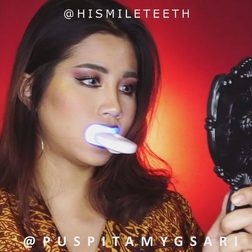 Here's a tutorial using whitening kit from @Hismileteeth I wonder if this works or not. I'll post a before after pict result later cos I have to use it 6 days in a row, so stay tune! . 🎥SONY A6000 @indobeautygram @indovidgram #HiSmile #Smile #Teethwhitening #ivgbeauty #indobeautygram #indovidgram #clozette #clozetteid #beautyjunkie #beautyjunkies #instamakeupartist #makeupporn #makeuppower #beautyaddict #makeuptutorial #beautyenthusiast  #makeupjunkie #makeupjunkies #beautyvlogger #wakeupandmakeup #hudabeauty #featuremuas #undiscovered_muas