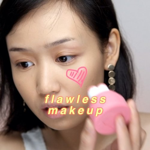 "This was when i used @shuuemura #shuuemuraid unlimited foundation first time on camera. Gila loh ini foundation bagus banget. Ga kering dikulitku, hasilnya itu beneran kaya filter. #notsponsored okay. Trus ini aku pakai @immemetaiwan heart stamp blusher dpt dr @yesstyle . Lucu banget pakcagingnya!! @marcjacobsbeauty air blush ""kink & kisses""@sorchacosmetic highlighter ""natuna""@blpbeauty lip glaze ""sparkling rose""...#indobeautygram #clozette #clozetteid #charisceleb #tampilcantik #inspirasicantikmu #ragamkecantikan #undiscovered_muas #make4glam #dailygirlsfeed #100daysmakeup #100daysofmakeupchallenge"