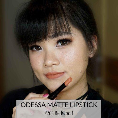 Odessa Matte Lipstick #703 Redwood Review lengkapnya ada diblog ya ^_^ http://www.kornelialuciana.com/2017/09/odessa-cosmetics-matte-lipstick.html
