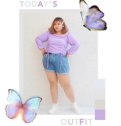 Another lilac outfit purchase! Pretty much I'm gonna keep stacking lilac collection while it's on trend, cuz it's really hard to get a cute lilac top before this color become trendy. Got this one from @moysstyle_  Literally racun TikTok nya kak @alvioeka ✨✨✨ @moysstyle_ lg open PO lagi yak. Buruan ikutan sebelum ga kebagian 🤭🤭🤭 Btw, celananya kado dr @citzzjulzz 🥰🥰🥰 . . . #Clozetteid #clozetteootd  #ootdbigsizeindo #fashion #cute #ootdplussize #ootdcurvy #shoxsquad #ootdplussizeindo #curvy  #fashionaddict #fashionstyle  #curvygirl #plussize #endorsementindo #endorsement #bodypositive #celebratemysize #ootdindonesia #ootdindo #curvywomanindo  #influencersurabaya #beautyhasnosize #missbbwindonesia #ootdredhacs #redhacsmixnmatch