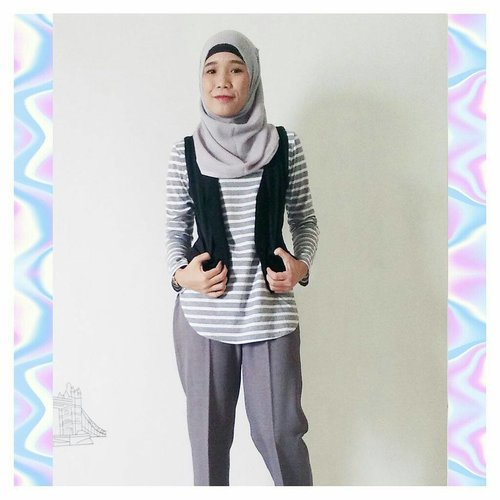 that vest is an old vest. it was my mom's way back when and now its mine. as well as for the trousers⠀.⠀#hijabiandfab #hijabstyle #hijabfashion #hijabiblogger #blogger #lifestyleblogger #blog #clozette #clozetteid #instaquotes #instadaily #vintage #vintageclothing