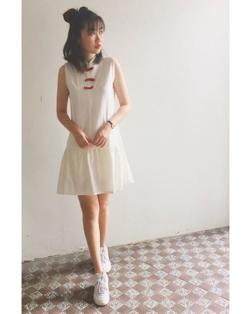 Wearing yuqi dress in white from @beatriceclothing • #iwearbeatrice #beatriceclothing #clozette #clozetteid #ootd #lookoftheday #fashion #style #lookbook #whatiwore #whatiworetoday #outfit #fashionista #instastyle #instafashion #outfitpost #fashionpost #fashiondiaries