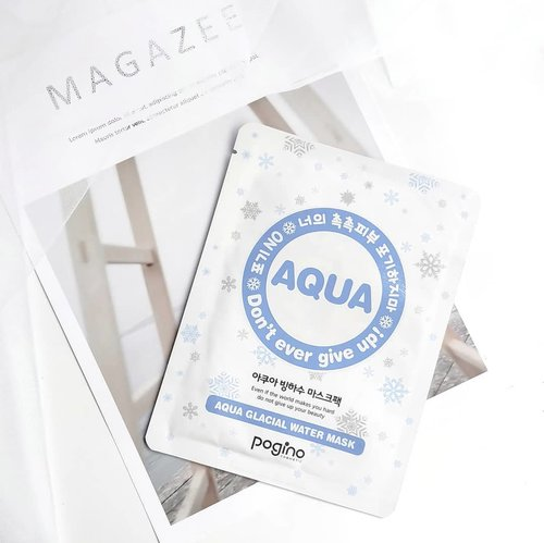 Pogino Aqua Glacial Water Mask . I got this mask from @skencos a few months ago. I'm sure my Indonesian beauty friends don't know much about this brand, so do I. Thank you so much @skencos for giving me the chance to try some masks that I didn't even know they were exist 😁. . The main ingredient is Glacial Water, supplies moisture to skin & helps in temperature care. The other ingredients are Complex Hyaluronic Acid, Rosa Centifolia Flower Extract & Bambusa Vulgaris Water provide a refreshing feeling on dry skin, regulates skin balance  and helps maintain lively & moist skin. . The sheets is very thin, using nude mask sheet made from 100% natural vegetable materials. . If you look at the packaging there are snowflakes pictures, I assume that this mask will provide great soothing or cooling sensation. But it turns out it only provides soft soothing sensation. . It has a lot of essences, it looks like I can use it to take a shower, 😂😂😂. The essence is clear and slightly viscous, not greasy but a little bit sticky. With hints of a refreshing musk and powdery scent. . I used this mask for 30 minutes, I really liked the sheet material that adheres well on my face. It felt so comfortable and the scent gave me relaxation. After I took off the sheet, the essence left on the face felt a little bit sticky and needed time to be absorbed. Just as its claimed, I felt my skin become moist and well hydrated after using this mask. . . . . . #kbeauty #koreanbeauty #kskincare #koreanskincare #koreanmask #koreansheetmask #clozetteID #beauty #beautyblogger #beautyreview #beautycommunity #skincare #skincarereview #skincarecommunity #skincareroutine #skincarediary #skincarelover #sheetmask #sheetmaskreview #mask #maskreview #sheetmasklover #sheetmasksddict