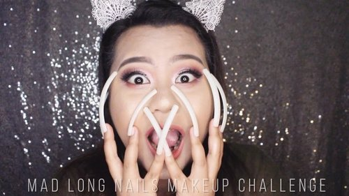 Beauty is literally pain, at least in this challenge. @madformakeup.co has challenged me to do my usual makeup... with LONG NAILS!!!! Got some scratches on my face, but I think I NAILED it. Ha! Got the jokes? Lol 😂😂 Anyway, I had fun, thanks @madformakeup.co for sending me the kit. 😘😘 #IVGbeauty #peachyqueenblog #itsmylookbook #featuremuas #undiscovered_muas #gigi_maes_vaidosas #clozetteid #bloggerceria @featuremuas @gigi_cross @indobeautygram @fiercesociety