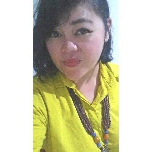 Koneng-koneng Yellllllowww mode on 😍 . . . #mystyle #smile #myself #selfie #workstyle #ritystory #ritystyle #selfportrait #photooftheday #like4likes #likeforlike #followforlike #me #activity #igersworldwide #womanblogger #travelerlife #mytravelgram #selflove #clozetteid  #womantraveler #behappy #keepsmile