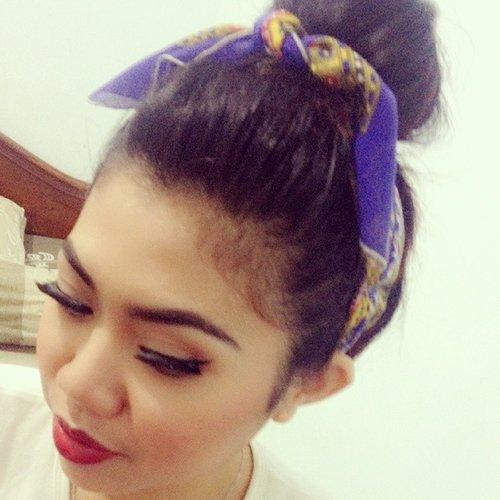 final look @erlynda87 #rockabillygirl #makeup #ClozetteID #hairbun #retro #pinup #beauty #makeupforBF