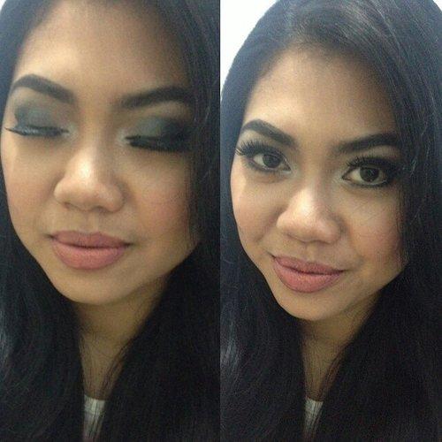 thank you for trusted me to doing your make up @erlynda87 #ClozetteID #makeup #smokeymakeup  #smokeyeyes #makeupforBF #stilllearning #forlike #eyes #eyebrows #eyeshadow #eyeliner #eyelashes #blushon #lip #lipstick #nude #revlon #LTpro #vivacosmetics #wardah #maybelline #thebodyshop