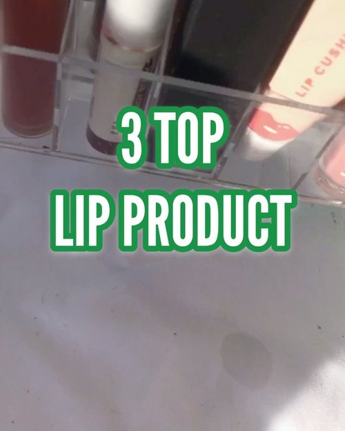 ✨ 3 top daily Lip product ✨  Nah, akhirnya kesampaian ngepost ini juga ya bun, hehehe   Coba, kamu sehari2 sukanya shade yg gmna ?   #lipproduct #makeup #makeupindonesia #lipstick #reviewlipstick #reviewmakeup #indonesia #review #reviewbynm #lipcare #lipgloss #clozetteid #racunshopee #racunmakeup
