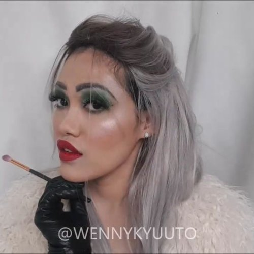 Shortened clip of Cruella de Vil Zaman Now #makeuptutorial  Full version is on my vlog, link in bio ❤  Products used: Face: -Makeover Camouflage Cream Concealer -@w.labglobal_official Black Hall BB Cushion -Maybelline Instant Anti Age Concealer -Too Faced Love Flush Blush - Love Hangover -@sonandpark_korea Face Lighting & Shading -@sleekmakeup Solstice Highlighting Palette -Shiseido Translucent Loose Powder  Eyebrows: @nyxcosmeticsnl Auto Eyebrow Pencil - Dark Brown Sari Ayu Pensil Alis Natural Black Yves Rocher Kohl Eyeliner Black  Eyes: -Sleek i-Divine Ultra Mattes V.2 -Juvia's Place masquerade palette -@lorealindonesia Superstar Superliner  Lips: Colourpop Lippiestix Frenchie @nyxcosmetics_indonesia Suede Cherry Skies  #clozetteid #makeupclips #makeupvideo #disneyinspiredmakeup #motd #makeupoftheday #ibv #indobeautygram #beautyvlogger #bvlogger #asianbeautyvlogger #youtuberindonesia #tampilcantik @tampilcantik #beautybloggerindonesia @beautybloggerindonesia #wakeupandmakeup @wakeupandmakeup #100daysofmakeup @100daysofmakeup #undiscovered_muas @undiscovered_muas #bunnyneedsmakeup @bunnyneedsmakeup #hypnaughtymakeup #tutorialmakeup #wakeup2slay #nyxcosmeticsnl #nyxcosmeticsid