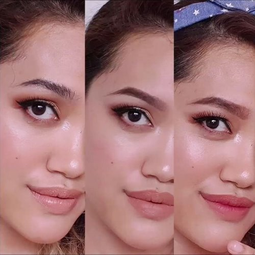 WHICH TEAM ARE YOUUU?#bushyeyebrows ?#onfleekbrow ? or#straighteyebrows ?Here is mini tutorial for three of them, complete video is up on youtube 🎬 (only 3 mins length, be sure to watch it) 😘 #linkinbio ❤.Products used:Face:-NYX Total Drop Foundation (Natural)-Maybelline Instant Anti-Age Eraser-Sonandpark Face Lighting & Shading-Ultima II Translucent Loose Powder-Too Face Love Hangover BlushEyebrows:1-Vaseline Petroleum Jelly-Sari Ayu Eyebrow Pencil (Natural Black)-Benefit They're Real Mascara2&3-@nyxcosmetics_indonesia Eyebrow Pencil Dark BrownEyes:-@benefitnetherlands They're Real Mascara-Maybelline Hypersharp Power Black LinerLips:1-@girlactik Le Creme Naked2-NYX SMLC Abu Dhabi3 dabs of -@nyxcosmeticsnl Suede Cherry Skies..#ClozetteID #beauty #wakeupandmakeup @wakeupandmakeup #makeupaddict #beautyvlogger #asianbeautyvlogger #MOTD #LOTD #bblogger #makeuplover #makeupjunkie #nyxcosmeticsID #nyxcosmeticsnl #Indobeautygram @indobeautygram #IVGbeauty #naturalmakeup @ragam_kecantikan #wakeup2slay #bunnyneedsmakeup @bunnyneedsmakeup #tutorialalis #tutorialbikinalis @tampilcantik #makeupvideos #makeupclips #tutorialmakeup @inspirasi_cantikmu #tutorialmakeupindo