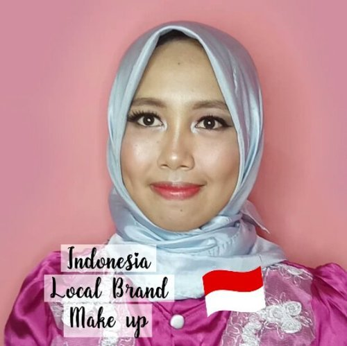 INDONESIA Local brand Makeup..Product used:. @purbasarimakeupid foundation natural & kuning gading. @marckscosmeticind powder. @viva.cosmetics eyebrow pencil & single eyeshadow. @wardahbeauty blush on. @mineralbotanica eyeshadow palette. @makeoverid blush on. @f2f.cosmetics lipstick..#makeup #makeupmuslimah #tutorial #beautygoers @beautygoers #indobeautyvlogger #@bvlogger.id #MOTD @Bombtutorial #medanbeautygram @medanbeautygram #mvgbeauty @medanvidgram #indobeautysquad @indobeautysquad #beauty #clozetteid #tampilcantik @tampilcantik