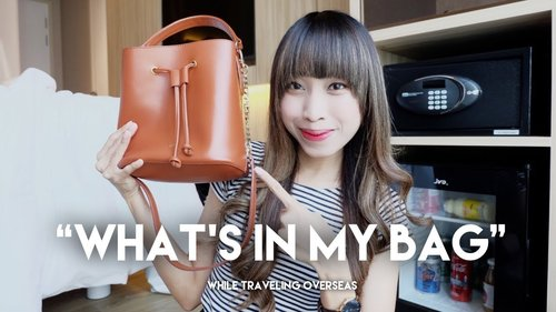 WHAT'S IN MY BAG - Travel Overseas Edition - YouTube