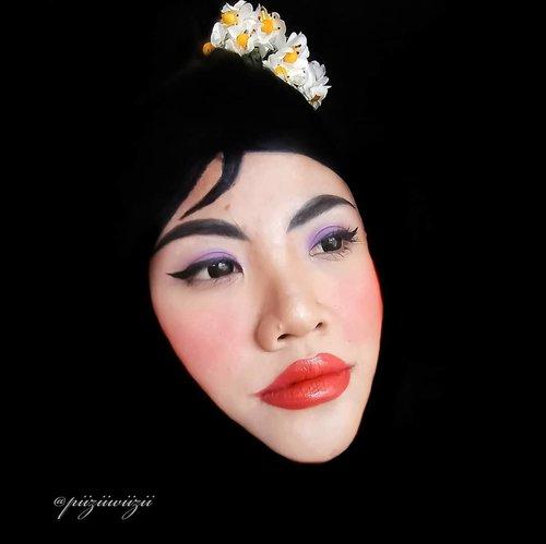 "Makeup Ukhti Mulan. . . Pake @x2softlens Sanso Black ""Ebony"" . . Ayo para ukhti yang di tag ikutan juga kuyyy. . . #x2halloweenmakeup #halloweenmakeup #mulan #makeupukhti #motd #makeup #makeupfx #facepaint #Clozetteid #beauty . . Disclaimer : menutupi kegagalan membuat baju mulan, terbitlah ukhti mulan"