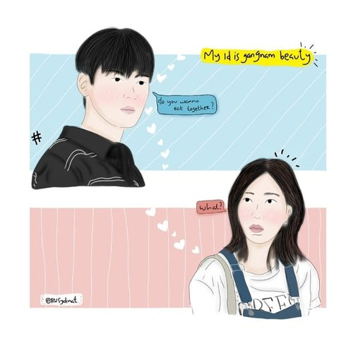 """<div class=""""photoCaption"""">One of my favorite scene from My ID is Gangnam Beauty 😍<br /> .<br /> Meskipun sampe sekarang belom tau backsound yang dipake apaan 😭😭<br /> .<br />  <a class=""""pink-url"""" target=""""_blank"""" href=""""http://m.id.clozette.co/search/query?term=koreandrama&siteseach=Submit"""">#koreandrama</a>  <a class=""""pink-url"""" target=""""_blank"""" href=""""http://m.id.clozette.co/search/query?term=myidisgangnambeauty&siteseach=Submit"""">#myidisgangnambeauty</a>  <a class=""""pink-url"""" target=""""_blank"""" href=""""http://m.id.clozette.co/search/query?term=kpop&siteseach=Submit"""">#kpop</a>  <a class=""""pink-url"""" target=""""_blank"""" href=""""http://m.id.clozette.co/search/query?term=korea&siteseach=Submit"""">#korea</a>  <a class=""""pink-url"""" target=""""_blank"""" href=""""http://m.id.clozette.co/search/query?term=chaeunwoo&siteseach=Submit"""">#chaeunwoo</a>  <a class=""""pink-url"""" target=""""_blank"""" href=""""http://m.id.clozette.co/search/query?term=imsoohyang&siteseach=Submit"""">#imsoohyang</a>  <a class=""""pink-url"""" target=""""_blank"""" href=""""http://m.id.clozette.co/search/query?term=dramakorea&siteseach=Submit"""">#dramakorea</a>  <a class=""""pink-url"""" target=""""_blank"""" href=""""http://m.id.clozette.co/search/query?term=digitalsketch&siteseach=Submit"""">#digitalsketch</a>  <a class=""""pink-url"""" target=""""_blank"""" href=""""http://m.id.clozette.co/search/query?term=byrusydinat&siteseach=Submit"""">#byrusydinat</a>  <a class=""""pink-url"""" target=""""_blank"""" href=""""http://m.id.clozette.co/search/query?term=autodesksketchbook&siteseach=Submit"""">#autodesksketchbook</a>  <a class=""""pink-url"""" target=""""_blank"""" href=""""http://m.id.clozette.co/search/query?term=sketch&siteseach=Submit"""">#sketch</a>  <a class=""""pink-url"""" target=""""_blank"""" href=""""http://m.id.clozette.co/search/query?term=clozetteid&siteseach=Submit"""">#clozetteid</a></div>"""