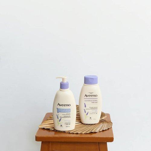 Funfact: Product  @aveeno_id kecintaan V BTS ini cocok banget for meee! 💜 Sedikit background kulit,  semua kulit badan kecuali wajah aku itu tends gampang kering, apalagi telapak tangan setelah pake hand sanitizer. Sering banget kelupas.. Bahkan aku ga gitu bisa cuci piring juga langsung kelupas kena sabun cuci piring dan air kelamaan. 😂 I count it a blessing to find these products. Dari zaman pakai yang biru yang no scent, sampai varian Lavender ini semuanya cocok.. Bahkan ini friendly juga untuk kalian yang punya masalah kulit kayak eczema gituu. Akupun baru tau... This lotion is quite thick bisa dibilang, makanya moisturizing. Cocok dipakai malem2.. I love how it doesn't leave any white cast afterward.  Beneran product yang focus untuk kulit sensitive.  Bisa dibilang moisturizing banget, dan kulit kelupas besokannya langsung way better.. no kidding 👌Bodywashnya juga so relaxing. After pemakaian juga berasa moisturized bukan yang beneran kering tighttt gitu. Nah, bedanya dari yang biru yang unscented adalah yang Lavender ini ada scentnya. Sisanya sama-sama moisturizing enough. Tergolong mild sih i like them both. Ini product yang masuk ke highlight ku jugaaa. Bisa dibeli dimana?  You can find it literally everywhere near your houseee! HAHAHA Ada di Guardian, Watsons, Century, Sociolla, Official store Johnson & Johnson di Shopee dan Tokopedia, Mothercare, Grand Lucky, Ranch Market dan Blibli__ #AveenoID #Aveeno #GetSkinHappy