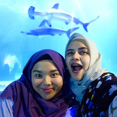 Counting days to 2k18 with selfie featuring dat Shark 🦈 🦈 ......#selfie #photooftheday #sisterforlife #ma #sister #malove #explore #peoplecreatives #ancol #clozetteid #seaworld #jakartapanas #huft