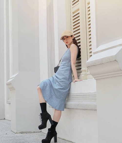 Second day outfit  Blue dress by @ohvola - it's Singapore Clothing Brand who have so many collection for your daily outfit  Great quality with acceptable price  This is my outfit. Sweet, but not too girly? How about you? . . #ootd #ootdindo #outfitoftheday #instastyle #stylefashiondaily #fashionaddict #bloggerstyle #lookbook #lookbookindo #ootdmagazine #styleblogger #fashionpost #styleinspiration #dailystyle #clozetteid #ShoxSquad #outfitsociety #vsco  #셀스타그램 #팔로우 #오오티디 #패션 #데일리 #일상 #fashiongram #fashionvibes  Btw, ini aku photo di gereja  Trip with @kingsmaker.co