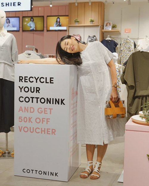 let's be a part of #RecycleYourCOTTONKINK journey by drop off your old @cottonink clothes, by the reward of course you will get an extra voucher 50% OFF for the next purchase, it's time to donated and be fashionable at the same time! ✨