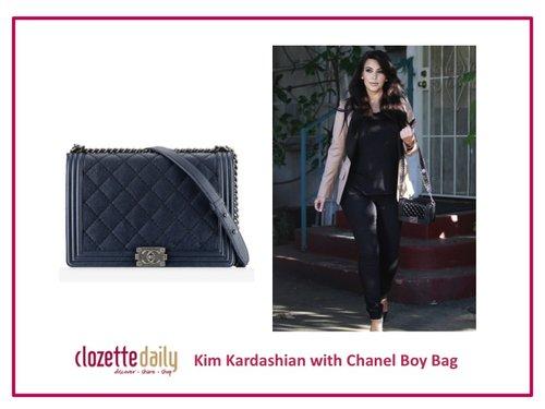 Kim Kardashian with Chanel Boy Bag
