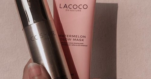 REVIEW LACOCO WATERMELON GLOW MASK  COSVIE WOMAN HYGIENE TREATMENT ESSENCE