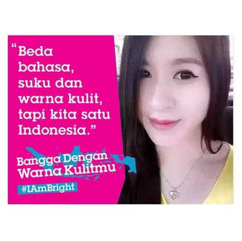 """""""Beda bahasa, suku dan warna kulit, tapi kita satu Indonesia."""" Setuju dengan slogan di fotoku ini?? Yuk dukung gerakan #BanggaDenganWarnaKulitmu bersama @cleanandclearid dengan cara ikut pledging di website http://kbj.review/akusetuju  Jangan lupa share e-posternya di media sosial seperti punyaku ini yaa 😉  #iambright #cleanandclearid #blogger #bangga #beauty #beautyblogger #indonesianbeautyblogger #starclozetter #clozetteid #kawaiibeautyjapan #kbj #indonesia #iloveindonesia #girl #quotes"""