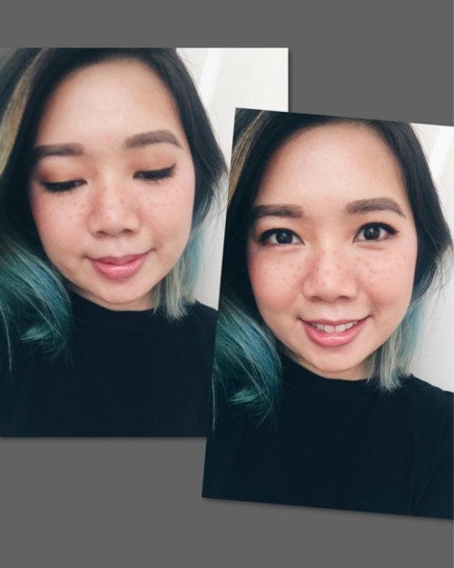 """Masih ada bekas jerawat belum hilang jadi ini salah satu cara """"menutupi""""nya 🤓😆.    #fauxfreckles #makeup #clozette #beauty #catrice #urbandecay #milani #bourjois #benefit"""
