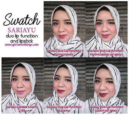 Sariayu Duo Lip Function #Lasem  warna nya super pigmented dan super gorjeesszzz 👌💋💋 #clozetteid #starclozetter #sariayu #lipstick #lipswatches #IBB #bloggerindonesia #beautyblogger