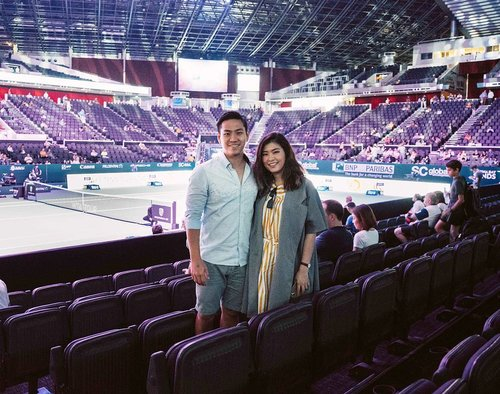 Being a good gf accompany him to watch the tennis match 😆 #wtasingapore #womantennis #tennismatch #clozetteid #exploresingapore #lykeambassador