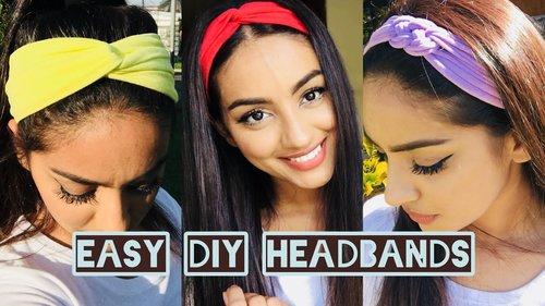 DIY 2 Ways Easy Stylish Headband From Old Clothes - YouTube