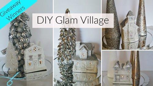 DIY Dollar Tree Glam Christmas Decor Winter Wonderland Village + Giveaway Winners - Christmas Decor - YouTube