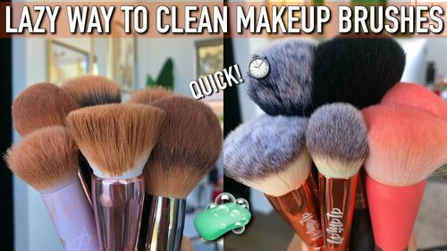 LAZY QUICK WAY TO CLEAN MAKEUP BRUSHES - YouTube