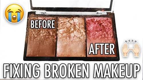 EASY HOW TO FIX BROKEN MAKEUP (SURGICAL SPIRIT) - YouTube