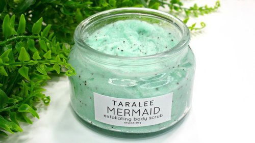 How to Make Aesthetic Mermaid Body Scrub - YouTube