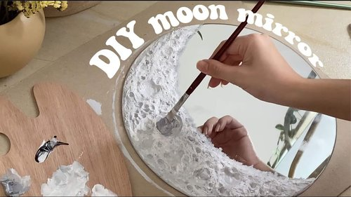 DIY: crescent moon mirror - YouTube