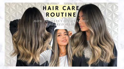 Hair Care Routine/How to Maintain HEALTHY BLEACHED Hair | - YouTube