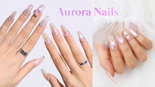 I Tried The Korean Aurora Glass Nail Trend ✨ - YouTube
