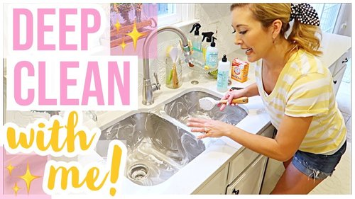 HOW TO CLEAN YOUR KITCHEN SINK | DEEP CLEAN WITH ME 2019 SERIES EPISODE 1 | Brianna K - YouTube